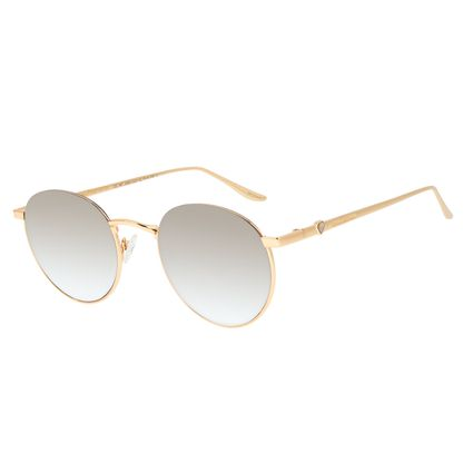 Óculos de Sol Feminino Funk-se Ludmilla Diamonds Espelhado Banhado a Ouro OC.MT.2993-3221