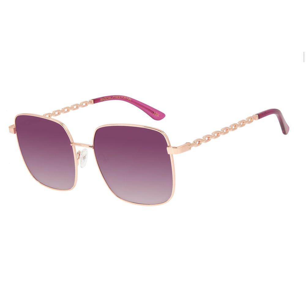 Óculos de Sol Feminino Funk-se Ludmilla Rosé Banhado a Ouro OC.MT.2994-2095
