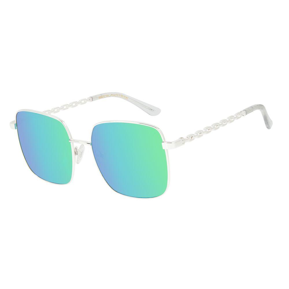 Óculos de Sol Feminino Funk-se Ludmilla Prata Banhado a Ouro OC.MT.2994-2507