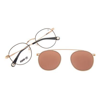 Armação Para Óculos de Grau Unissex Funk-se Ludmilla Multi Dourado LV.MU.0522-0221