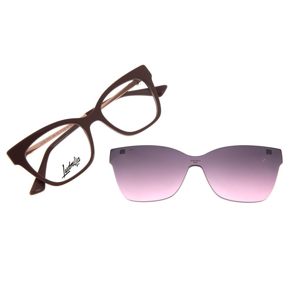 Armação Para Óculos de Grau Feminino Funk-se Ludmilla Multi Pedraria Rosé LV.MU.0518-3295