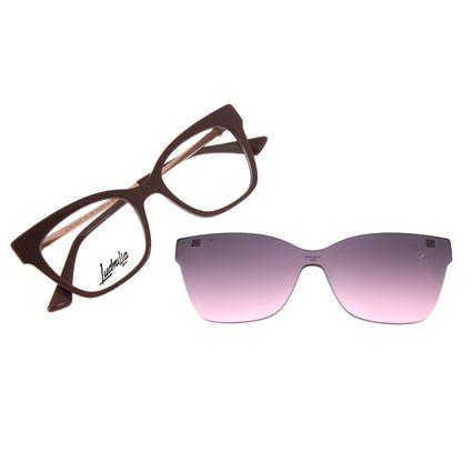 Armação Para Óculos de Grau Feminino Funk-se Ludmilla Multi Pedraria Rosê LV.MU.0518-3295