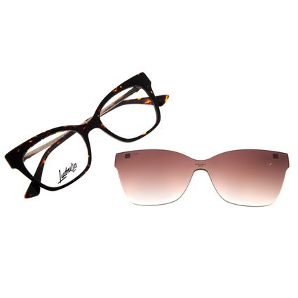 Armação Para Óculos de Grau Feminino Funk-se Ludmilla Multi Pedraria Tartaruga LV.MU.0518-5706