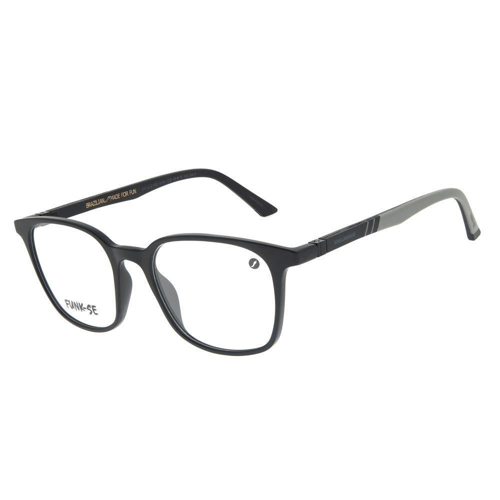 Armação Para Óculos de Grau Masculino Funk-se Ludmilla Preto LV.IJ.0190-0101
