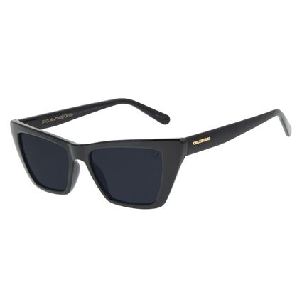 Óculos de Sol Feminino Funk-se Ludmilla Gatinho Preto OC.CL.3162-0101