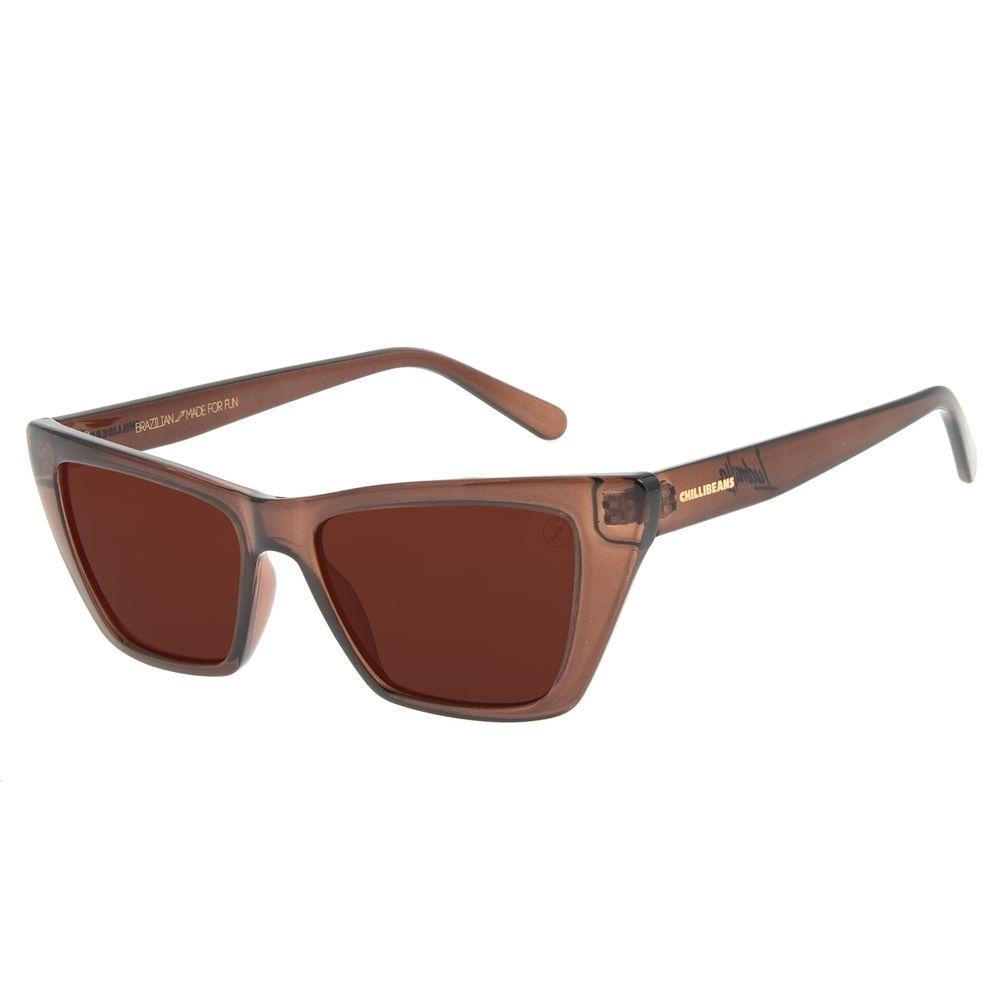 Óculos de Sol Feminino Funk-se Ludmilla Gatinho Marrom OC.CL.3162-0202
