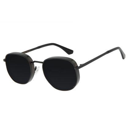 Óculos de Sol Feminino Funk-se Ludmilla Flap Preto OC.MT.2991-0101