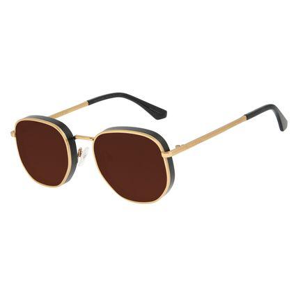 Óculos de Sol Feminino Funk-se Ludmilla Flap Dourado OC.MT.2991-0221