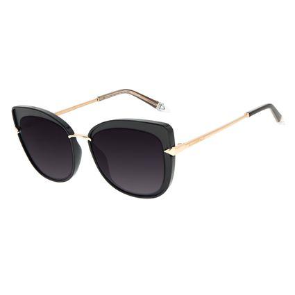 Óculos de Sol Feminino Funk-se Ludmilla Cat Diamonds Dourado OC.CL.3166-2021