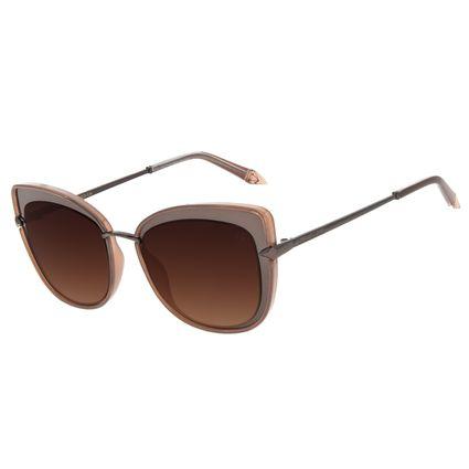Óculos de Sol Feminino Funk-se Ludmilla Cat Diamonds Marrom OC.CL.3166-2002