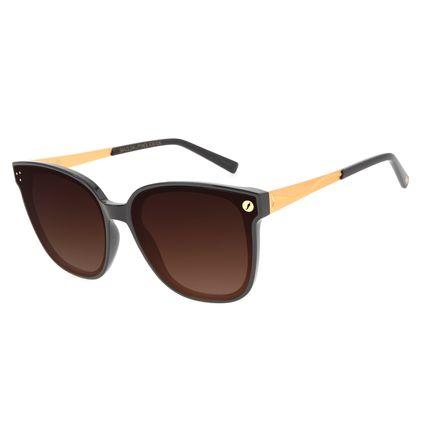 Óculos de Sol Feminino Funk-se Ludmilla Marrom Banhado A Ouro OC.CL.3173-5702