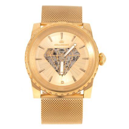 Relógio Automático Analógico Masculino Funk-se Ludmilla Diamond Dourado RE.MT.1160-2121