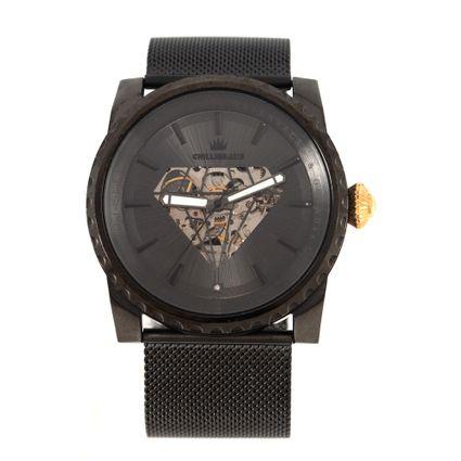 Relógio Automático Analógico Masculino Funk-se Ludmilla Diamond Ônix RE.MT.1160-2222