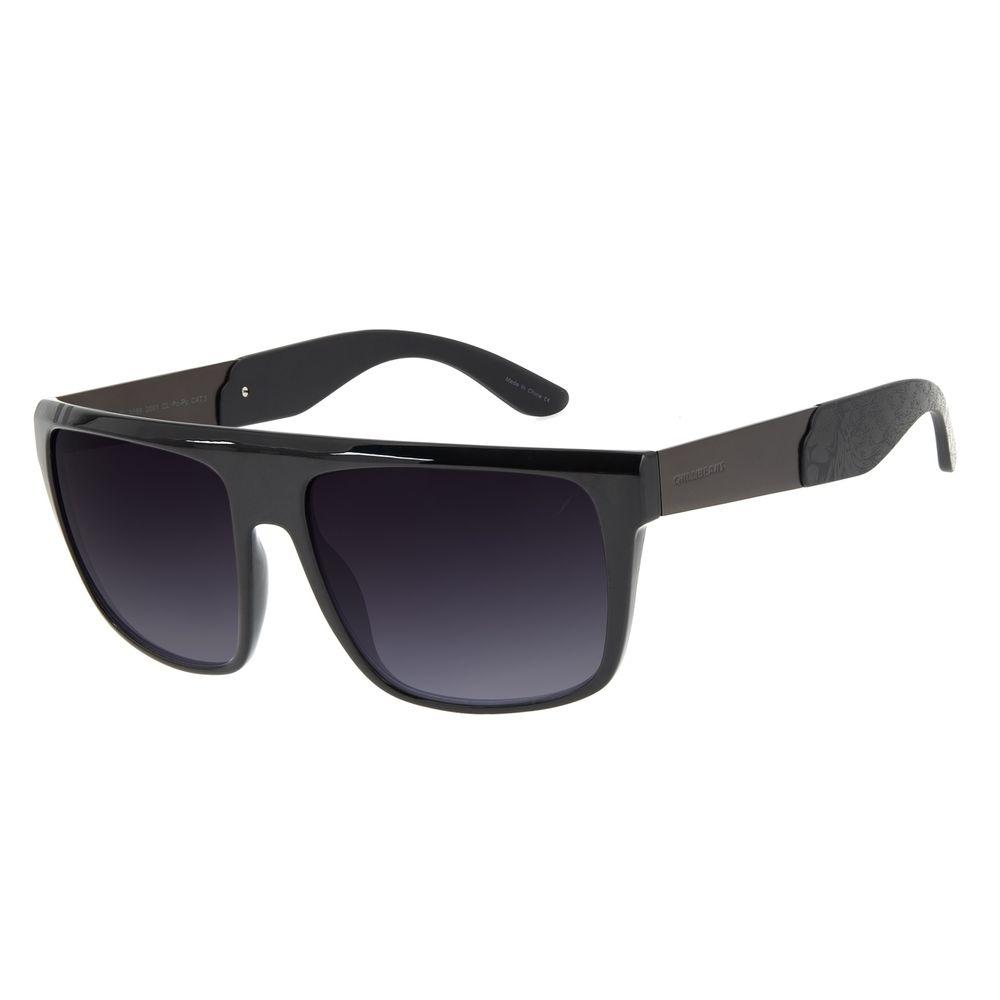 Óculos de Sol Masculino Funk-se Ludmilla Quadrado Degradê Preto OC.CL.3168-2001