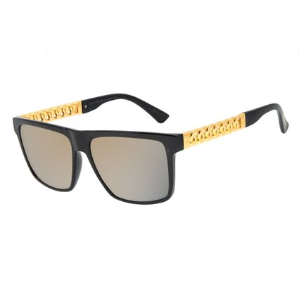 Óculos de Sol Masculino Funk-se Ludmilla Cordão de Ouro Banhado A Ouro Degradê OC.CL.3169-2001