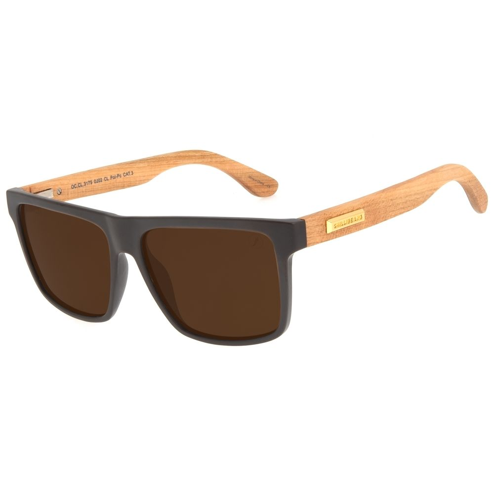 Óculos de Sol Masculino Funk-se Ludmilla Eco Marrom    OC.CL.3175-0202