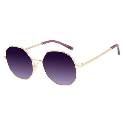 Óculos de Sol Feminino Funk-se Ludmilla Hexagonal Glitter Roxo OC.MT.2999-1421