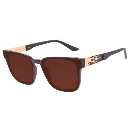 Óculos de Sol Unissex Funk-se Ludmilla Flame Marrom OC.CL.3165-0202
