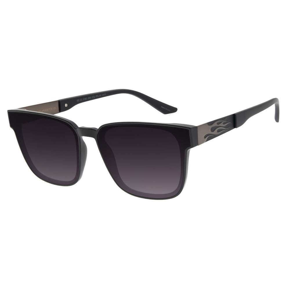 Óculos de Sol Unissex Funk-se Ludmilla Flame Degradê Preto OC.CL.3165-2001