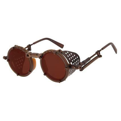 Óculos de Sol Unissex Alok Icônico Steampunk 2.0 Marrom OC.CL.3142-0202