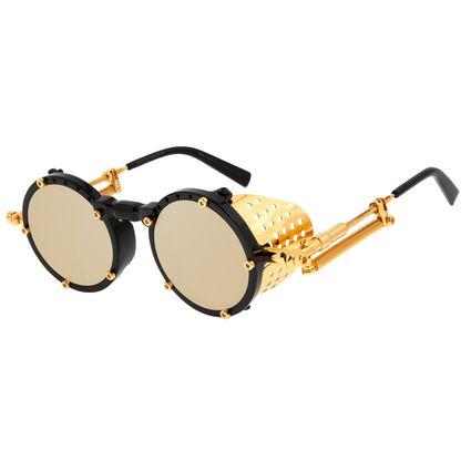 Óculos de Sol Unissex Alok Icônico Steampunk 2.0 Dourado OC.CL.3142-2001