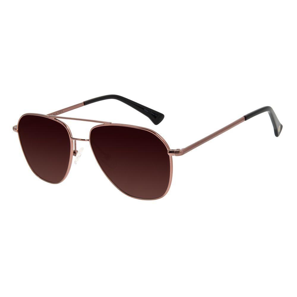 Óculos de Sol Unissex Chilli Beans Aviador Polarizado Marrom OC.MT.2922-5747