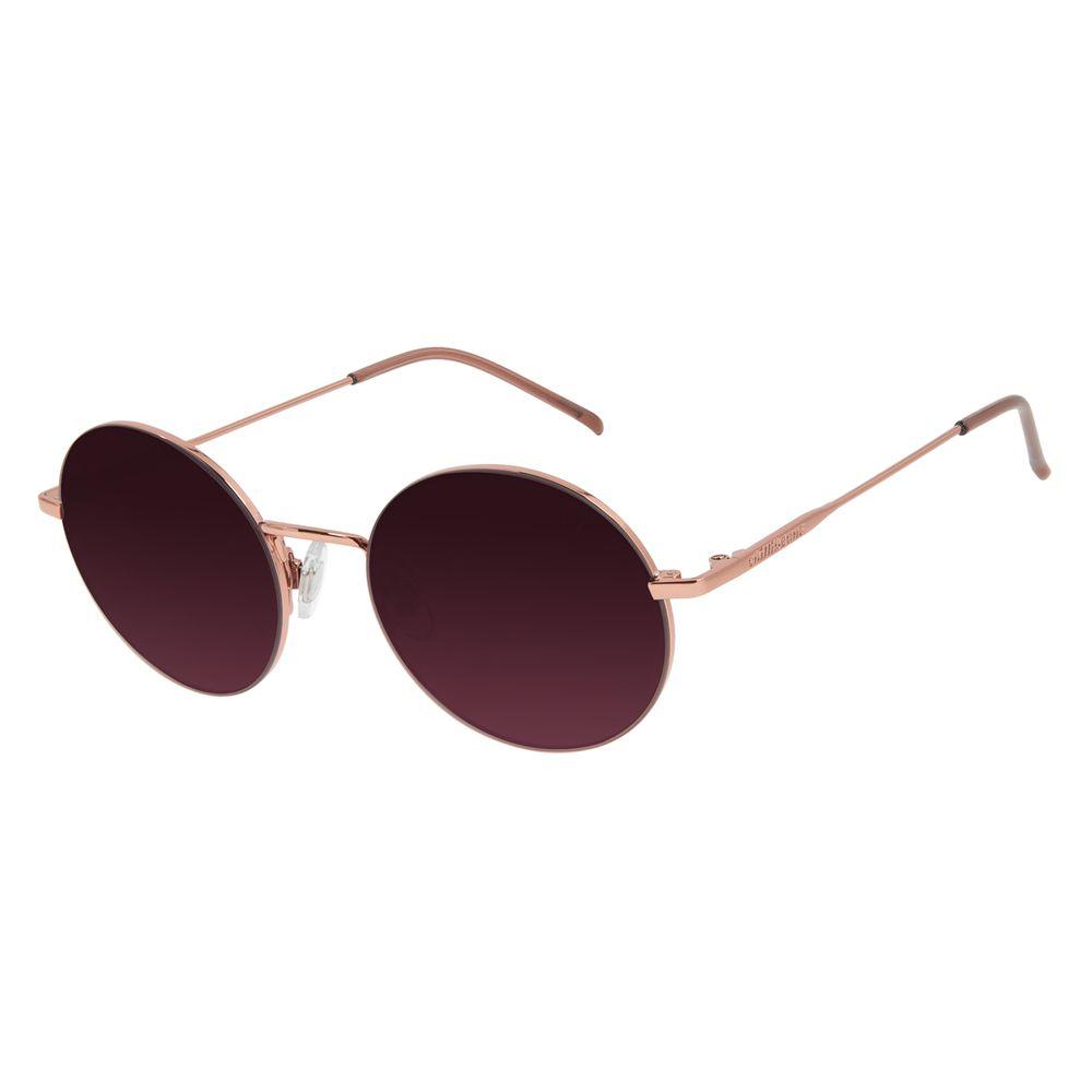 Óculos de Sol Unissex Chilli Beans Redondo Metal Rosé OC.MT.2935-1795