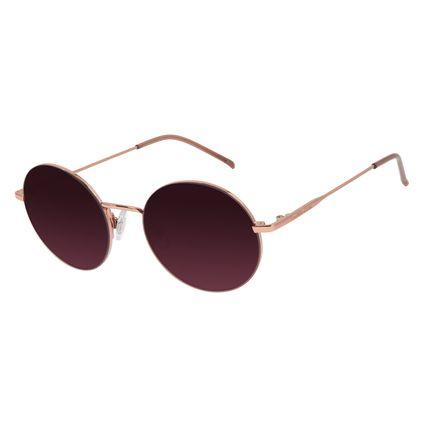 Óculos de Sol Unissex Chilli Beans Redondo Metal Rosê OC.MT.2935-1795