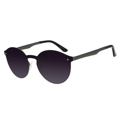 Óculos de Sol Unissex Chilli Beans Redondo Ônix Polarizado OC.MT.2932-2022