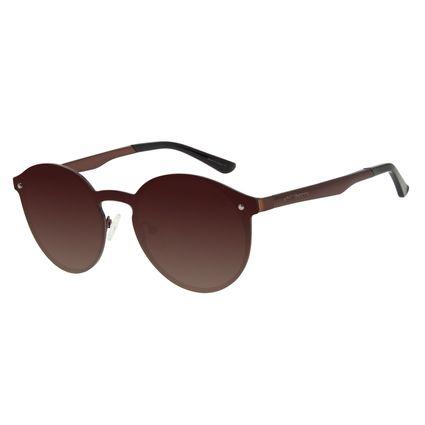 Óculos de Sol Unissex Chilli Beans Redondo Brilho Polarizado OC.MT.2932-5730