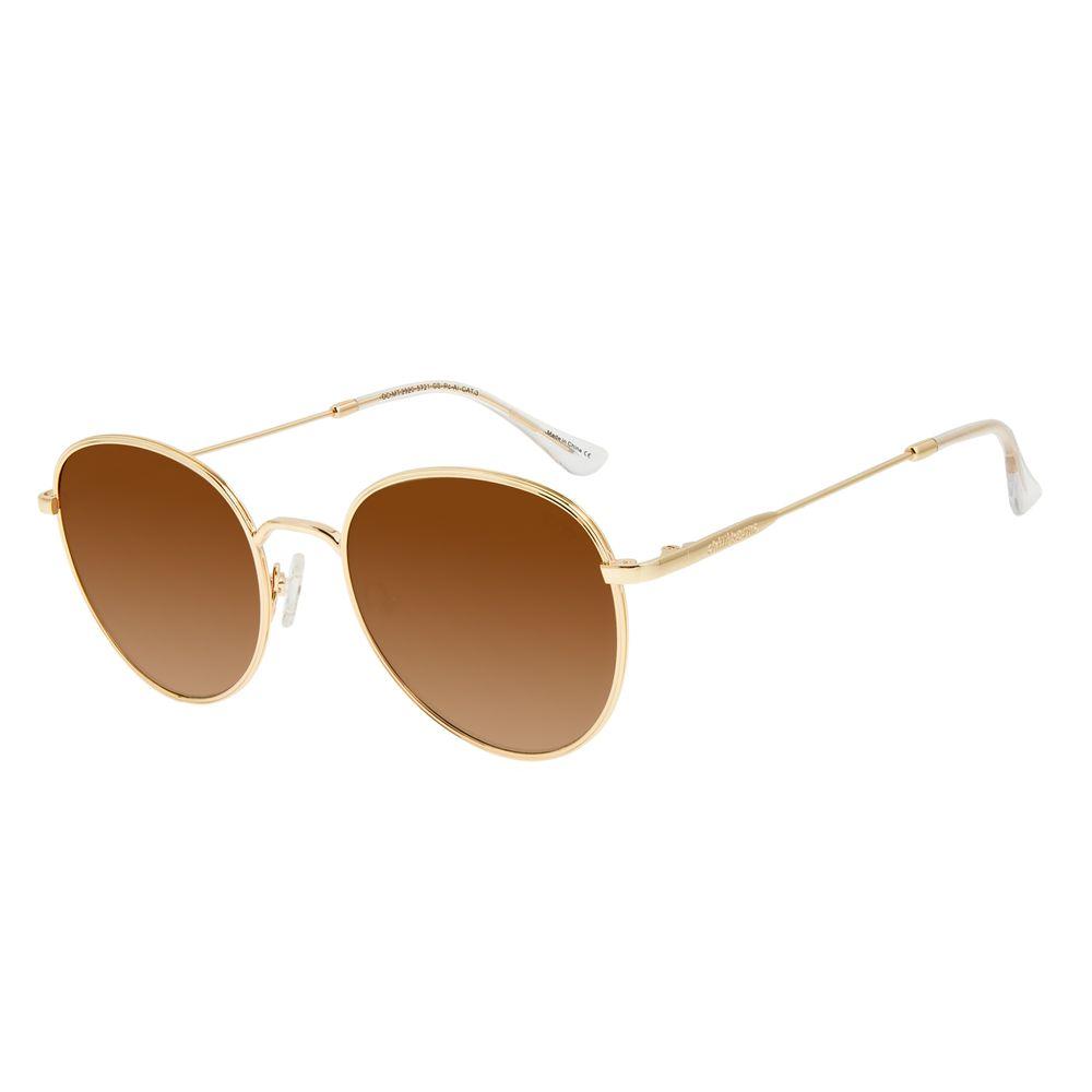 Óculos de Sol Feminino Chilli Beans Degradê Marrom Banhado A Ouro OC.MT.2920-5721
