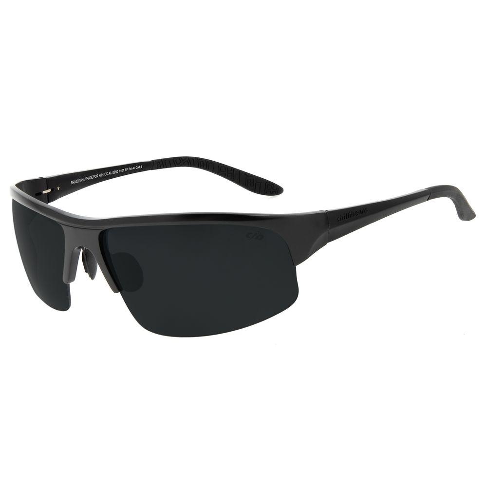 Óculos de Sol Masculino Chilli Beans Sport Flutuante Preto Polarizado OC.AL.0250-0101