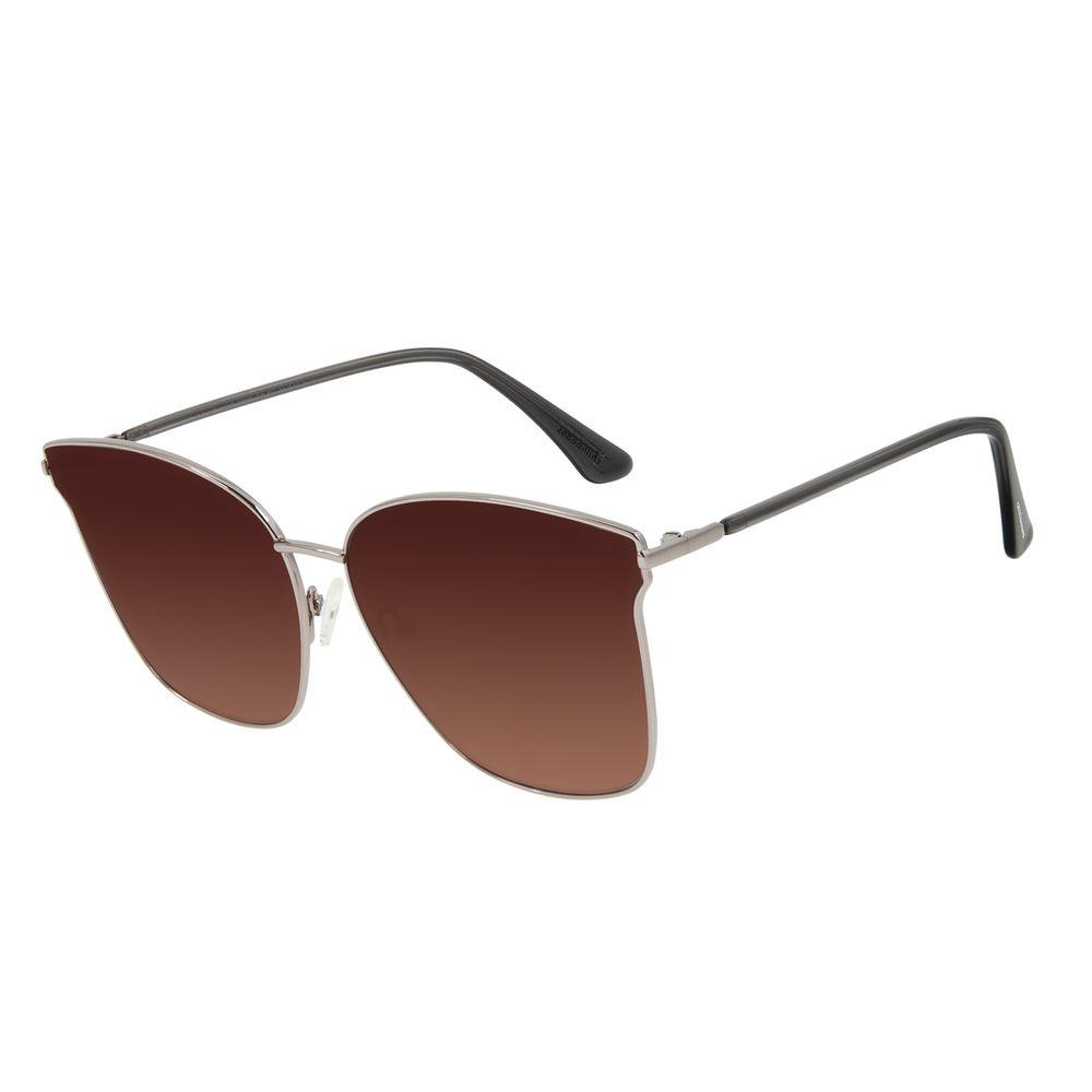 Óculos de Sol Feminino Chilli Beans Quadrado Metal Ônix OC.MT.2899-5722