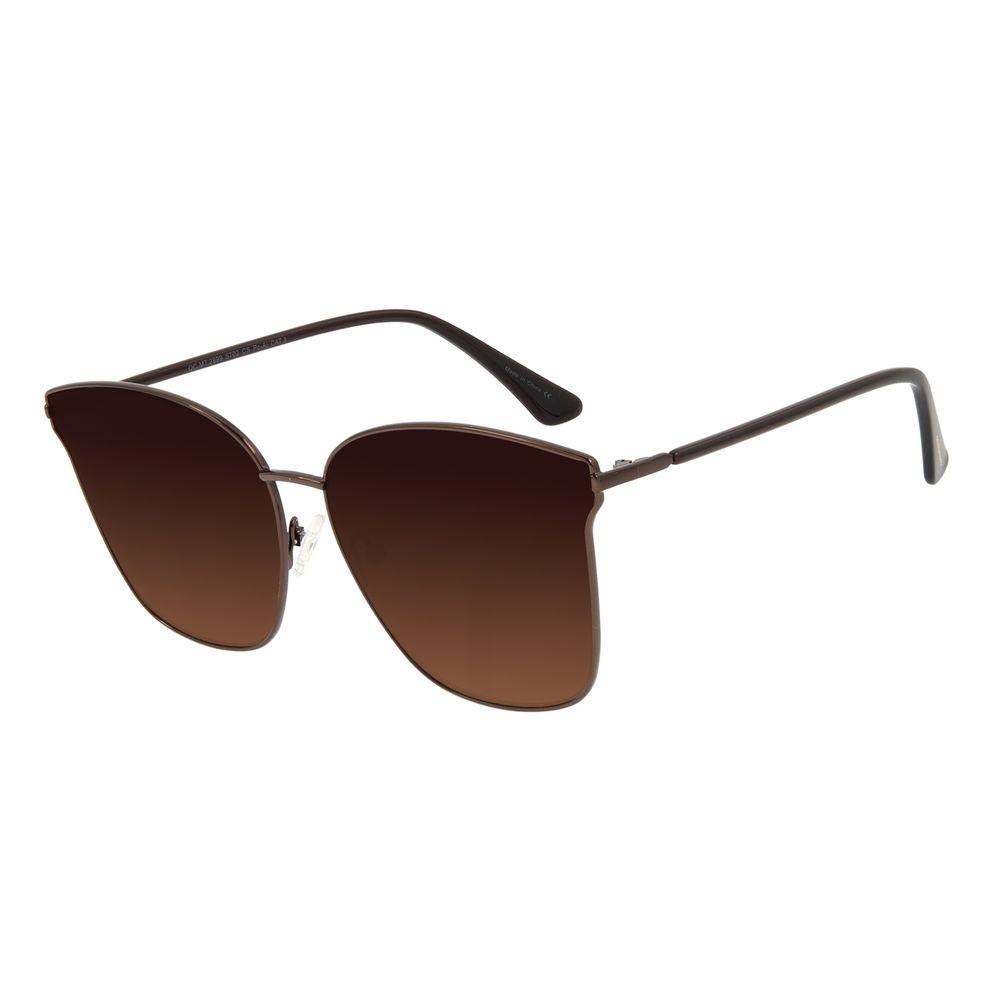 Óculos de Sol Feminino Chilli Beans Quadrado Metal Marrom OC.MT.2899-5702