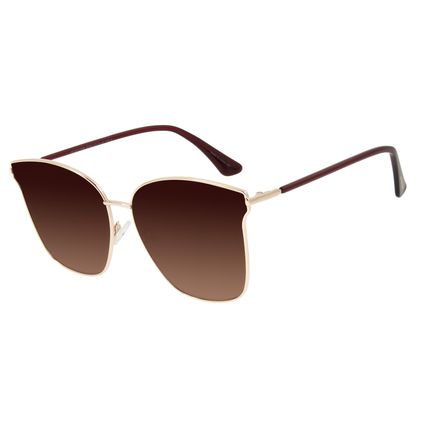 Óculos de Sol Feminino Chilli Beans Quadrado Metal Rosê OC.MT.2899-5795