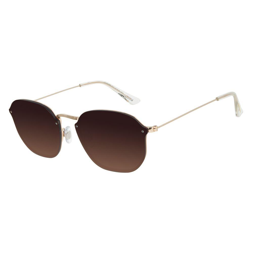 Óculos de Sol Unissex Chilli Beans Fashion Metal Dourado OC.MT.2898-5721