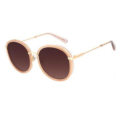 Óculos de Sol Feminino Alok Transparent Line Redondo Bege OC.CL.2960-5723