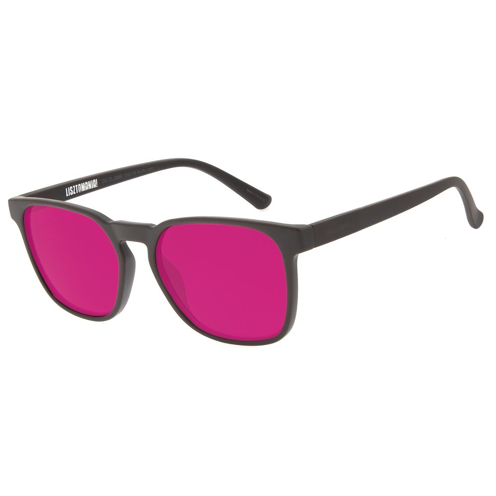 Óculos de Sol Masculino Lollapalooza Brasil Lisztomania Bossa Nova Vinho OC.CL.2988-1702