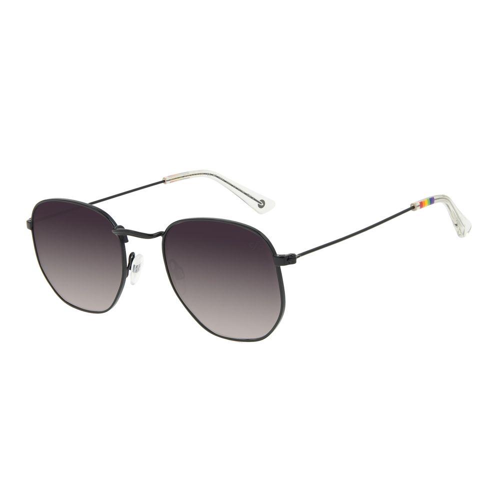 Óculos de Sol Unissex Chilli Beans True Colors Metal Redondo Preto OC.MT.2891-2001