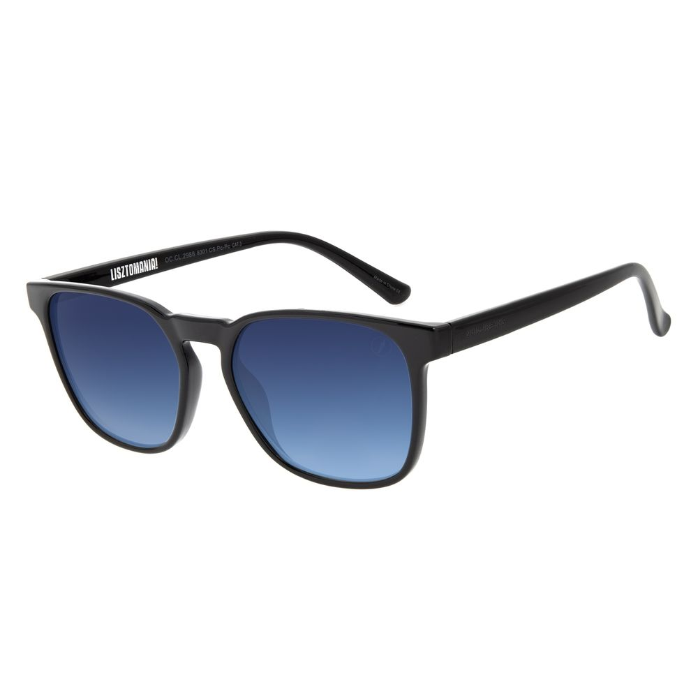 Óculos de Sol Masculino Lollapalooza Brasil Lisztomania Bossa Nova Degradê Azul  OC.CL.2988-8301