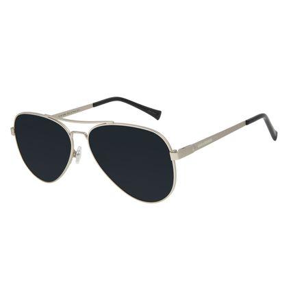 Óculos de Sol Unissex Chilli Beans Aviador Polarizado Ônix OC.MT.2890-0222
