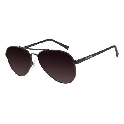 Óculos de Sol Unissex Chilli Beans Aviador Polarizado Marrom OC.MT.2890-5702