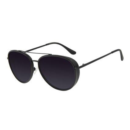 Óculos de Sol Unissex Chilli Beans Aviador Metal Flap Preto Polarizado OC.MT.2888-2001