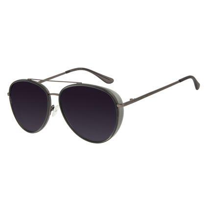 Óculos de Sol Unissex Chilli Beans Aviador Metal Flap Ônix Polarizado OC.MT.2888-2022