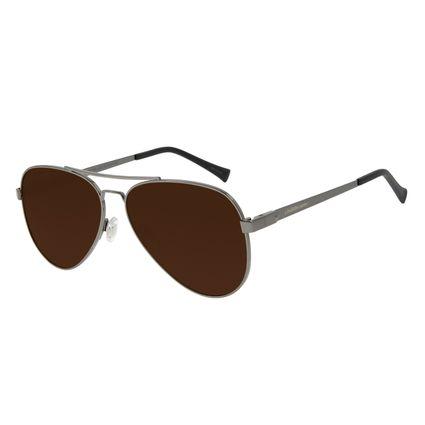 Óculos de Sol Unissex Chilli Beans Aviador Polarizado Ônix Classic OC.MT.2856-0222