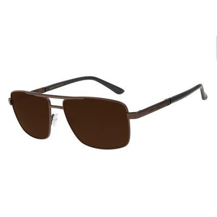 Óculos de Sol Masculino Chilli Beans Executivo Metal Marrom Escuro OC.MT.2847-0247