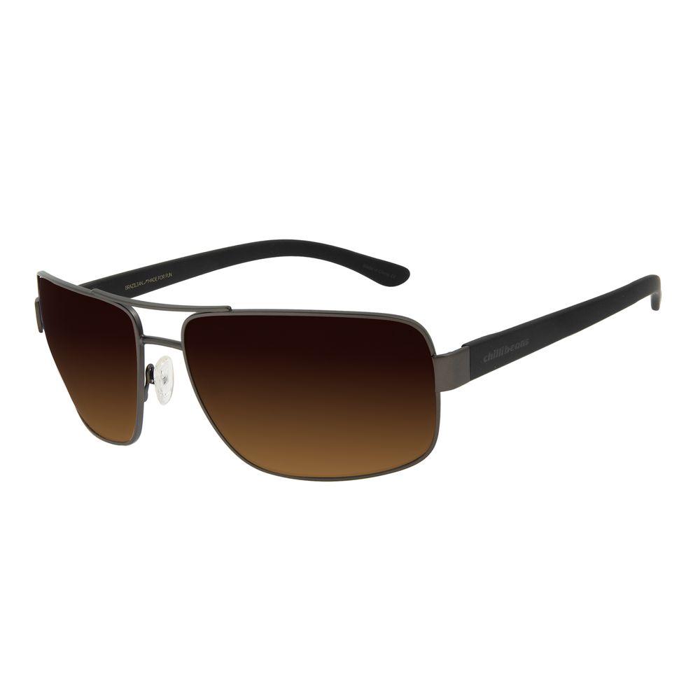 Óculos de Sol Masculino Chilli Beans Executivo Metal Ônix OC.MT.2826-5722