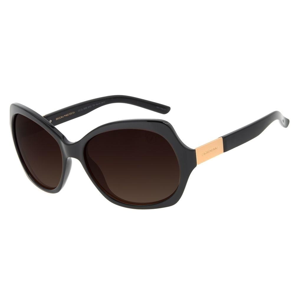 Óculos de Sol Feminino Chilli Beans Quadrado Essential Degradê Marrom Polarizado OC.CL.3000-5701
