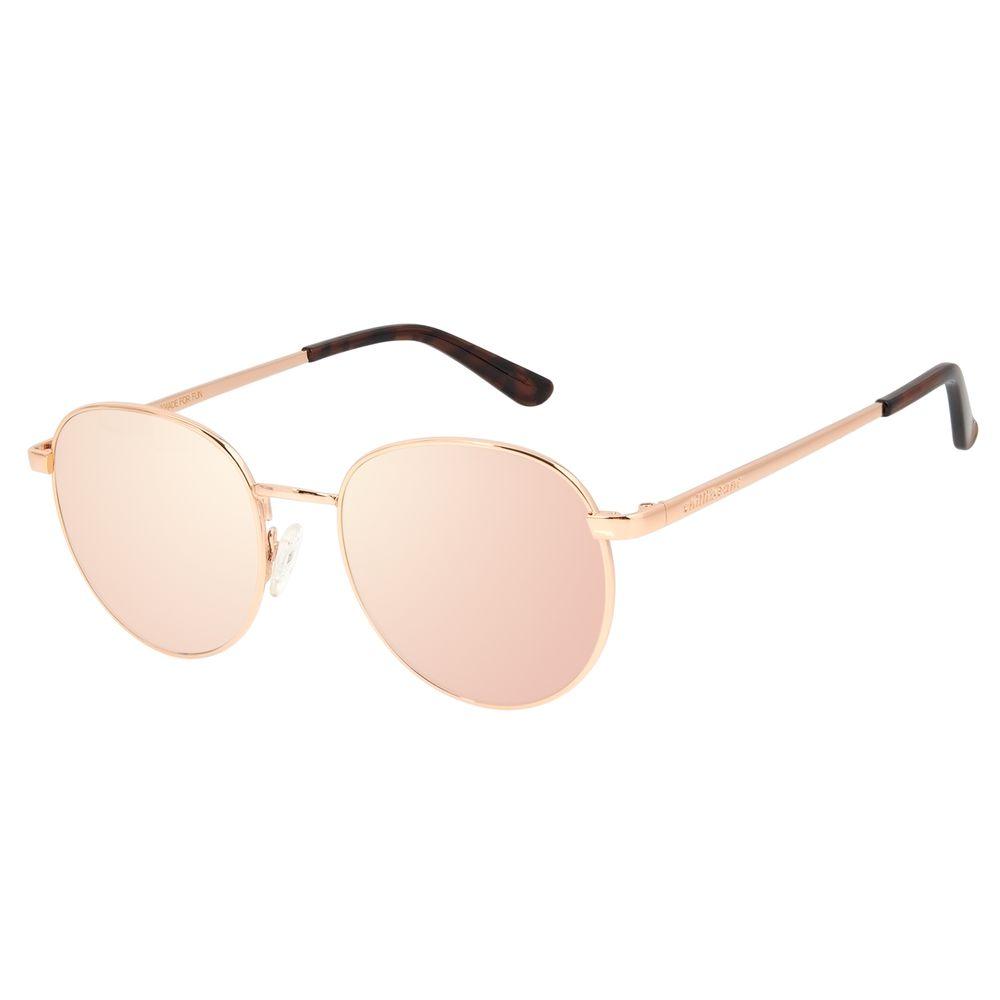 Óculos de Sol Unissex Chilli Beans Redondo Metal Rosé OC.MT.2825-9595