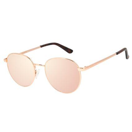 Óculos de Sol Unissex Chilli Beans Redondo Metal Rosê OC.MT.2825-9595